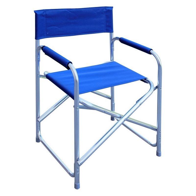 Sedia Regista Alluminio Offerte.Sedia Regista Alluminio Pieghevole Tessuto Blu Brigros