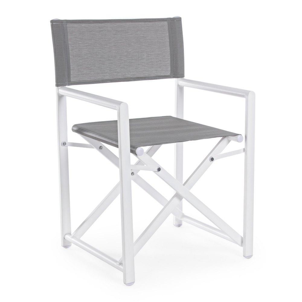 Sedie Pieghevoli Regista Alluminio.Sedia Da Giardino In Alluminio Regista Taylor Grigio Brigros