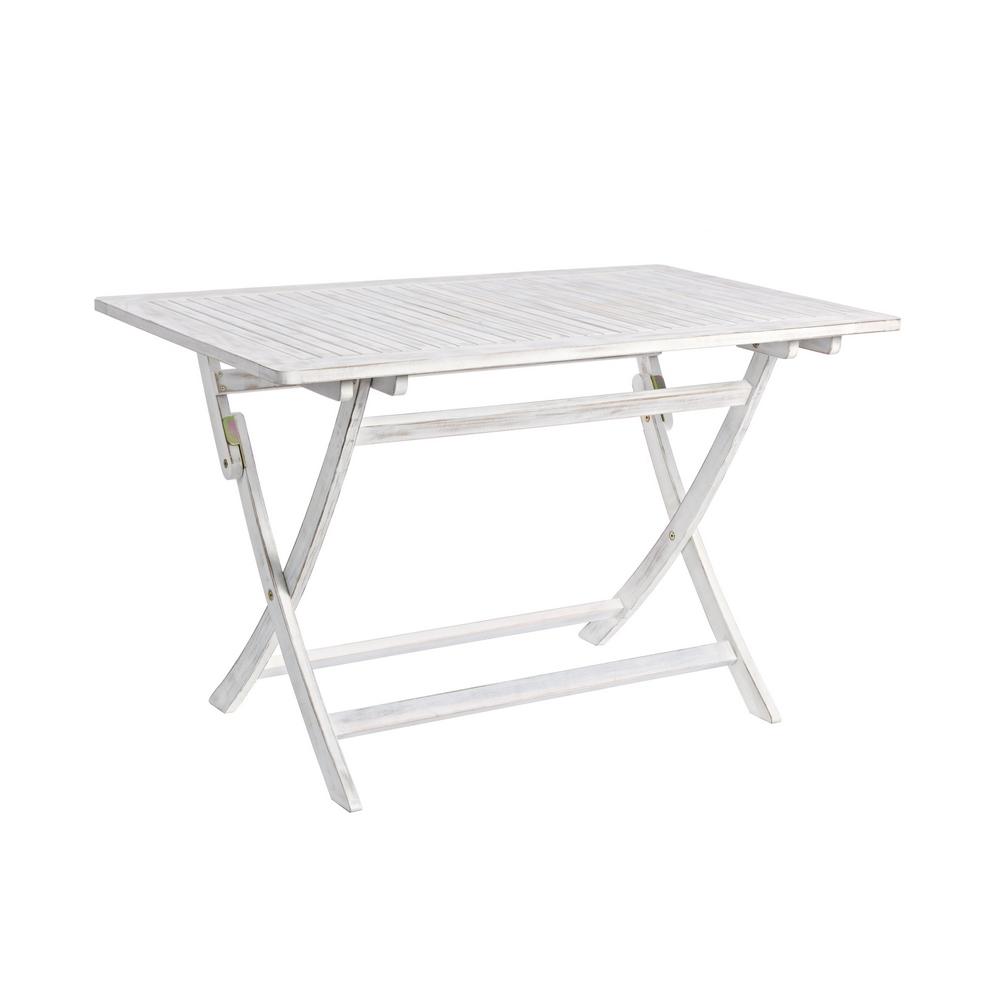 Tavolo Da Giardino Legno Bianco.Tavolo In Legno Da Giardino Octavia Bianco Brigros