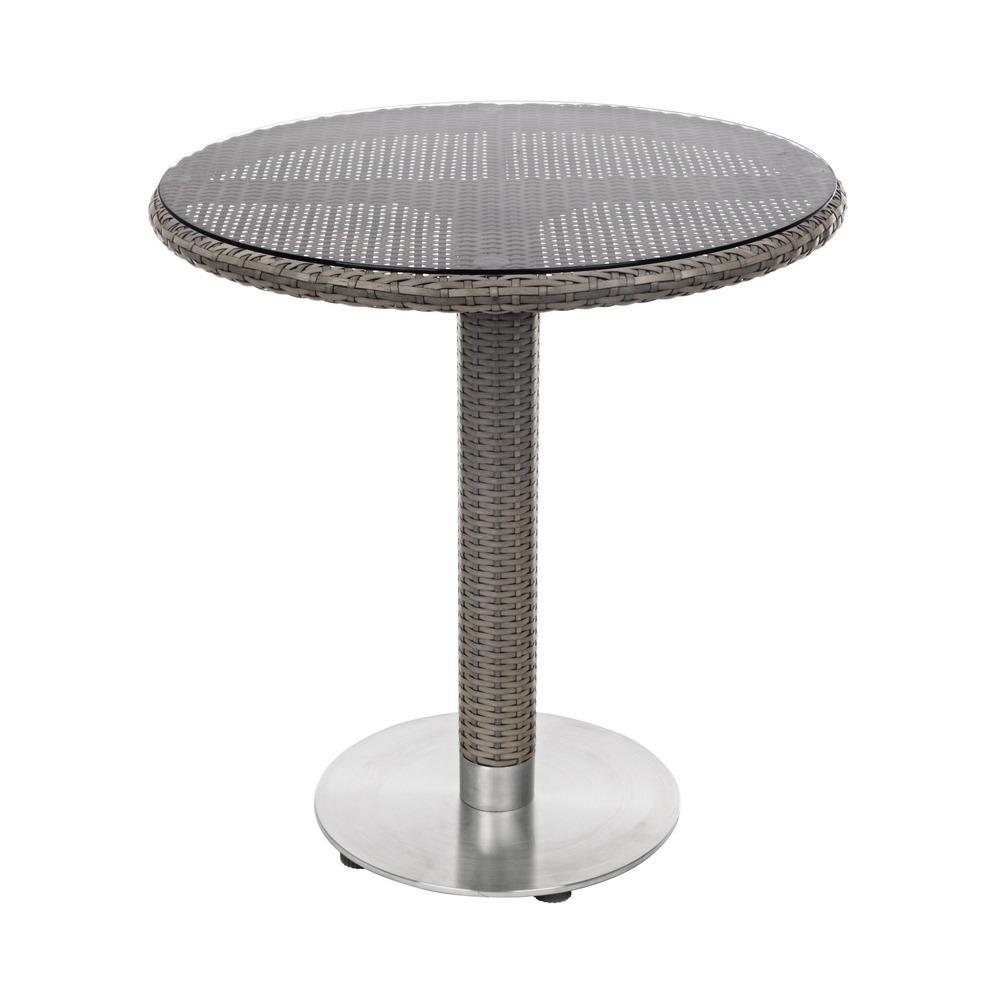 Tavolino in rattan da esterno tondo wessex brigros for Articoli da esterno