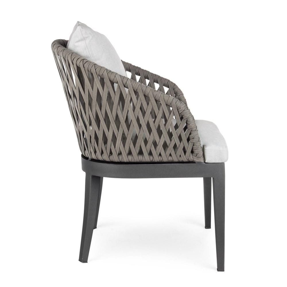 Set 2 sedie in alluminio da esterno pelican brigros for Sedie in alluminio