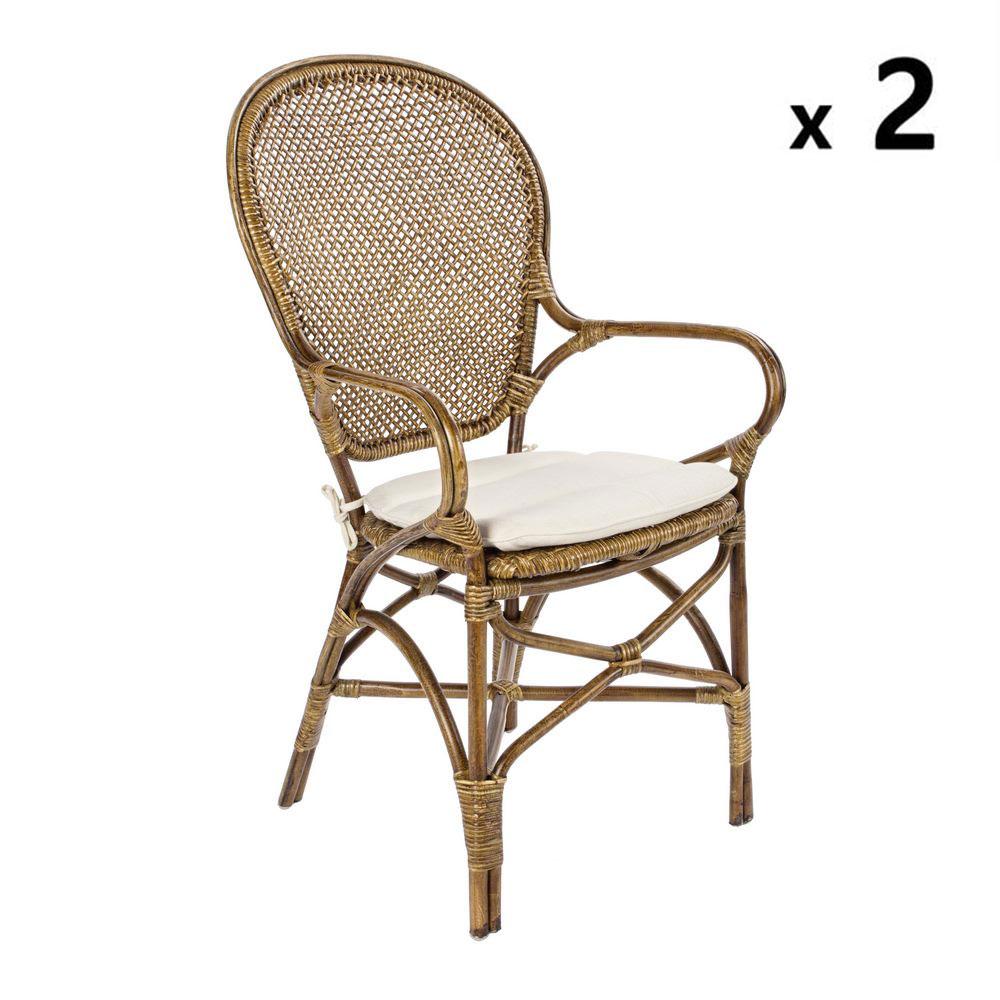 Set 2 sedie rattan da esterno edelina miele brigros for Set giardino rattan