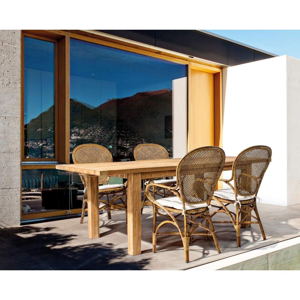 Set 2 sedie rattan da esterno edelina miele brigros for Articoli da esterno