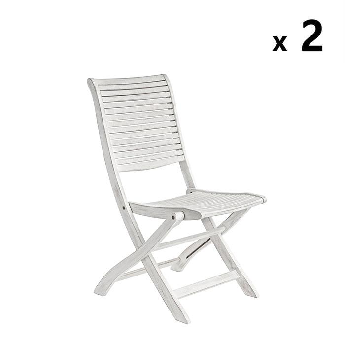 Sedia in legno di acacia bianca Octavia | Brigros
