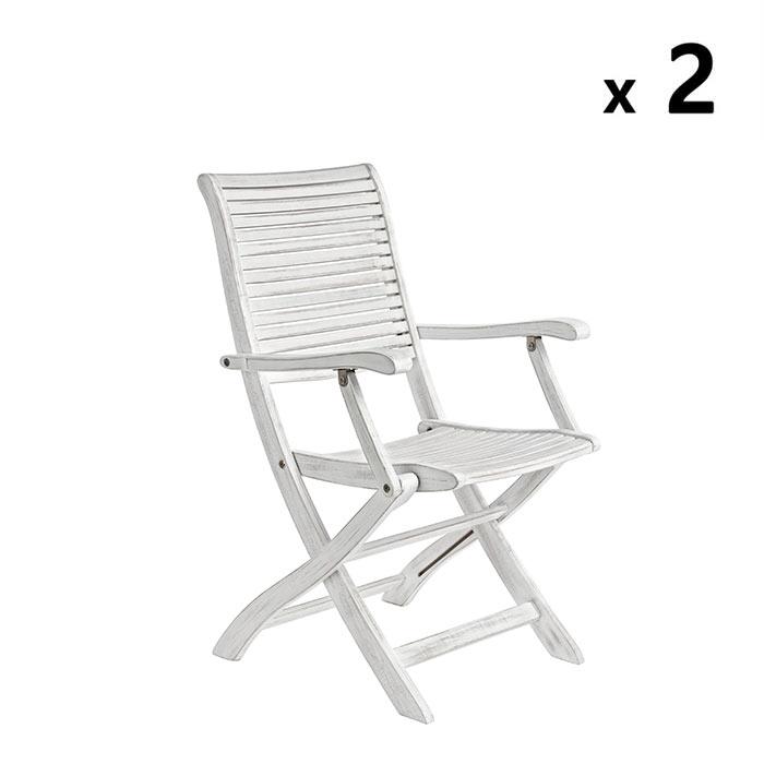 Sedie In Legno Richiudibili.Set Da 2 Sedie Richiudibili In Legno Colore Bianco Brigros