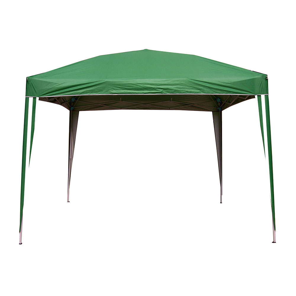 Gazebo In Rattan Sintetico.Gazebo Richiudibile 3x3 Oxford Verde Brigros