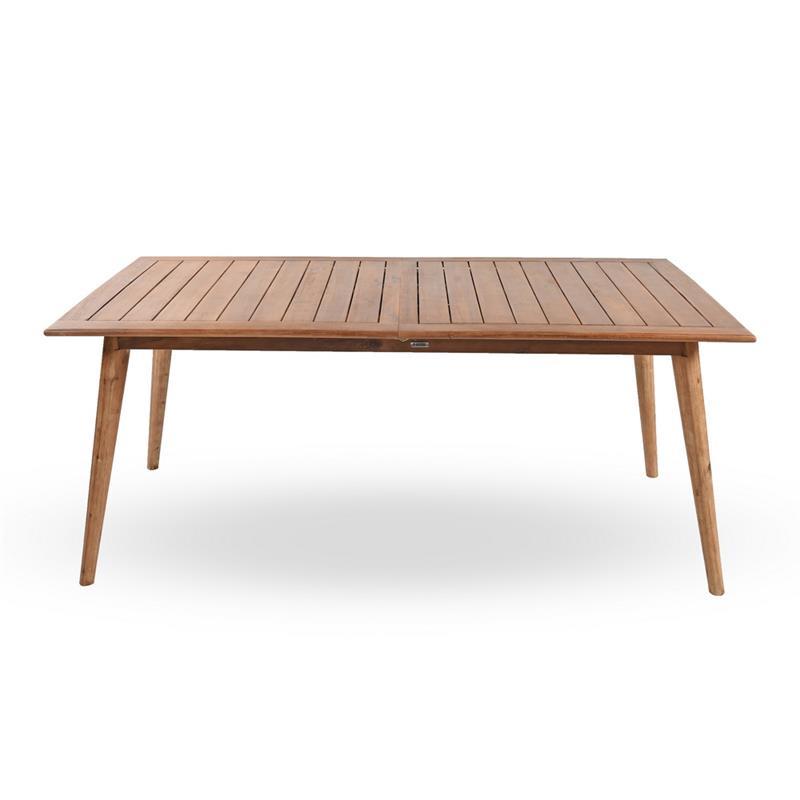 Tavolo da esterno allungabile in legno di acacia 180 240 for Tavolo legno esterno