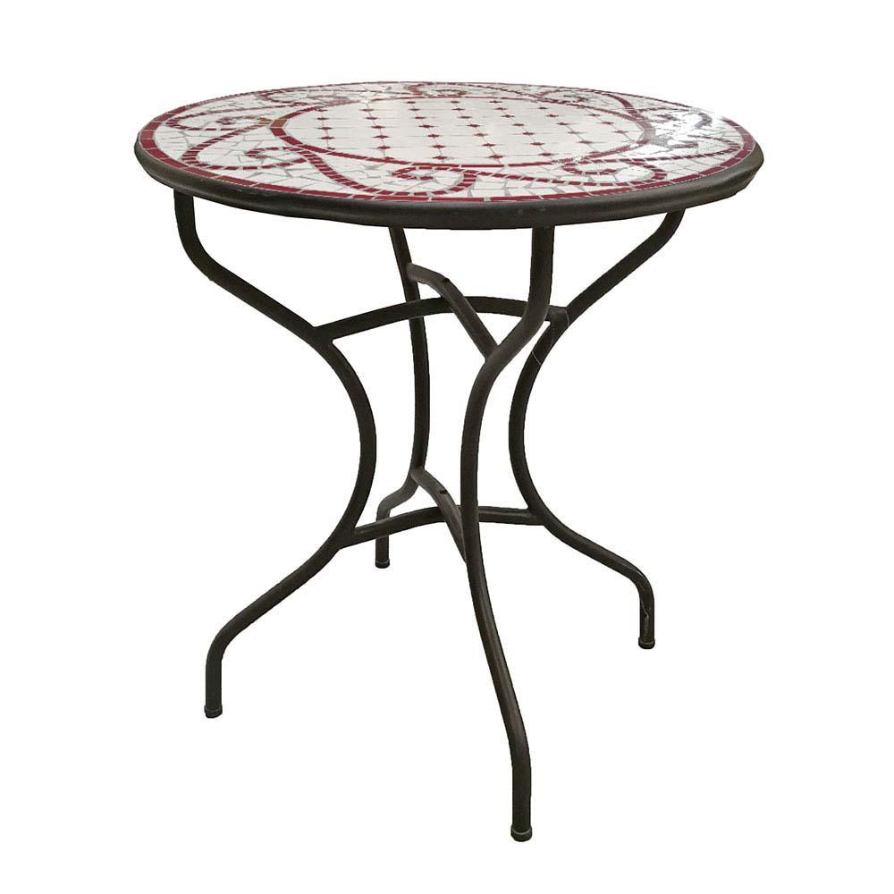 Tavolo da giardino in ferro mosaic brigros for Catalogo arredo giardino