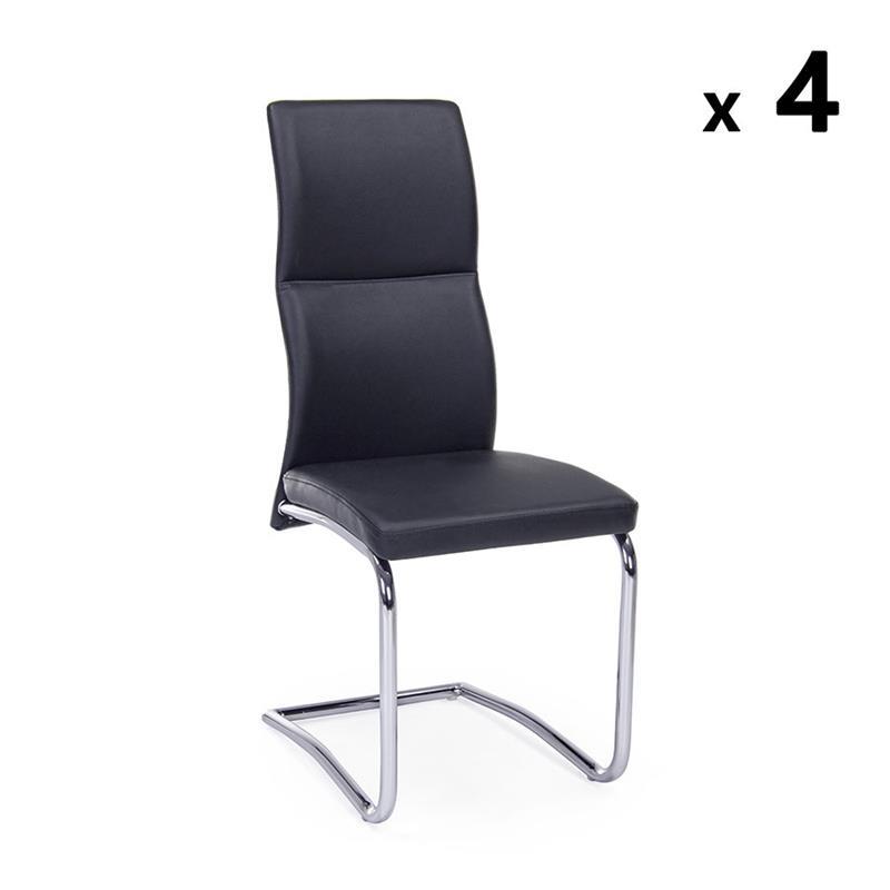 Set da 4 sedie nere design Thelma | Brigros