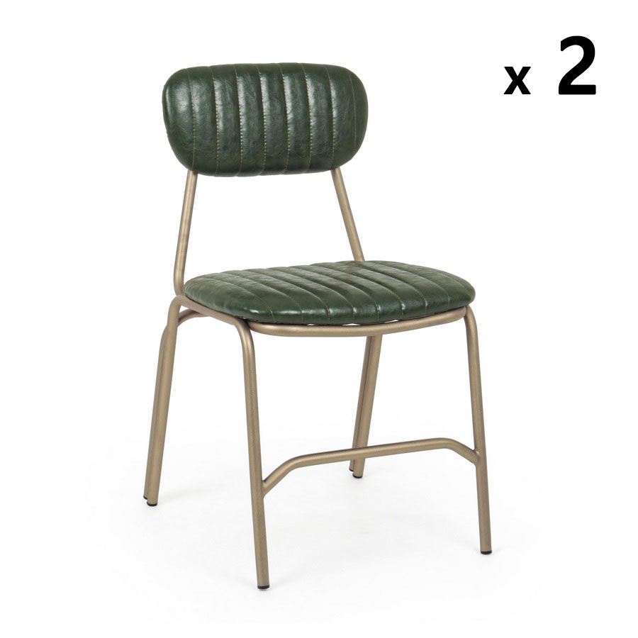 Coppia sedie vintage metallo Addy | Brigros