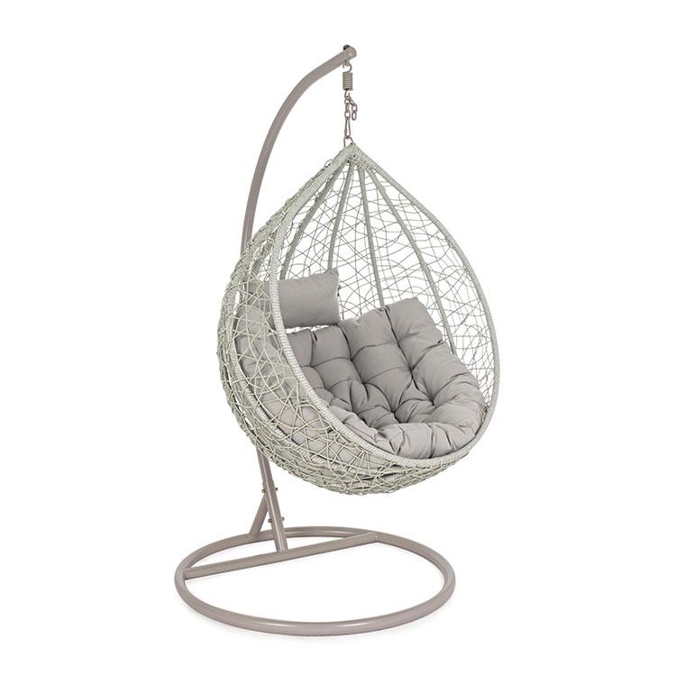 Poltrona sospesa da giardino colore grigio brigros - Poltrona sospesa da giardino ...