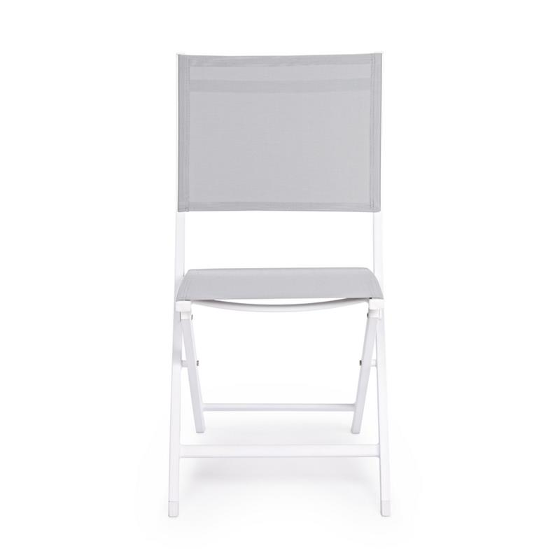Set 4 sedie pieghevoli bianche da giardino Elin   Brigros