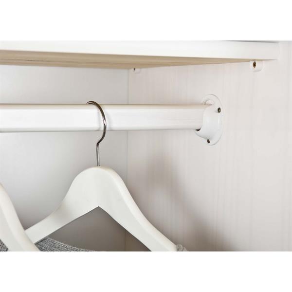 Armadio camera da letto a tre ante in legno bianco   Brigros